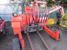 Manitou telescopic piggy back forklift, 1263 rec.hrs, yr2004. Direct ex local company. WHEN TESTED