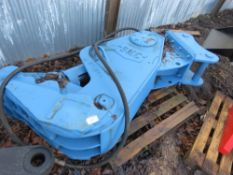 SMC hydraulic muncher jaws on 80mm pins This item is being item sold under AMS…no vat will be on