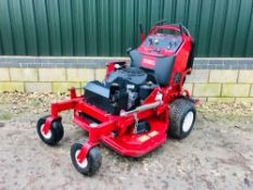 "TORO GRANDSTAND PROFESSIONAL MOWER WITH DECK 36"" WIDTH. 150 REC HOURS, YEAR 2013. WHEN TESTED WAS"