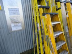 5 X ASSORTED GRP STEP LADDERS