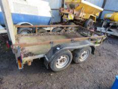 Twin axled mini digger trailer