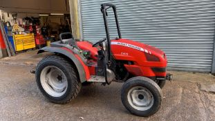 MASSEY FERGUSON 2405 COMPACT TRACTOR, 4WD, 1197 REC HRS, YEAR 2006 BUILD, MITSUBISHI 3 CYLINDER