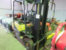 DAEWOO G18S GAS FORKLIFT, YEAR 2005. 1.8TONNE LIFT CAPACITY. SIDE SHIFT. WHEN TESTED WAS SEEN TO