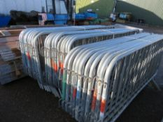 30 X STEEL PEDESTRIAN CROWD BARRIERS This items is being item sold under AMS…no vat will be on