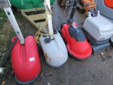 4 X ASSORTED SMALL SIZED FLOOR CLEANERS, SPECIAL NOTE: NO BATTERIES. MAY BE INCOMPLETE. CONDITION