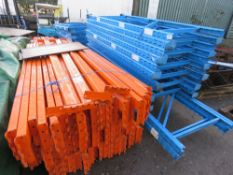 PALLET RACKING WITH BEAMS, 12 X 2.4M UPRIGHT, 2 X 3.6M UPRIGHTS, AND BOARDS, RECENTLY DISMANTLED