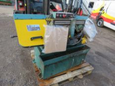 3 PHASE POWERED METAL CUTTING BANDSAW C/W SPARE BLADES. DIRECT EX LOCAL FARM...WORKING WHEN RECENTLY