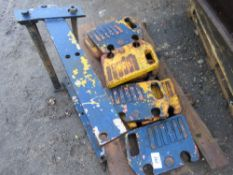 9 X WAFER TRACTOR WEIGHTS PLUS FRAME This item is being item sold under AMS…no vat will be on