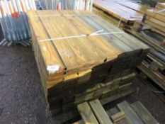 PACK OF FEATHER EDGE CLADDING TIMBER 1.2M X 10.5CM WIDTH APPROX
