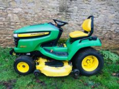 "JOHN DEERE X540 MULTI TERRAIN RIDE ON MOWER, YEAR 2009, 54"" SIDE DISCHARGE DECK. WHEN TESTED WAS"