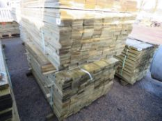 2 X LARGE PACKS OF FEATHER EDGE CLADDING TIMBER 1.8M X 10.5CM WIDTH APPROX