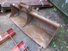 EXCAVATOR GRADING BUCKET 1.5M WIDE ON 50MM PINS This item is being item sold under AMS…no vat will