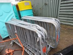 20 X SMARTWELD METAL CROWD BARRIERS This item is being item sold under AMS…no vat will be on charged