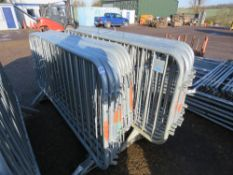 20 X STEEL PEDESTRIAN CROWD BARRIERS This items is being item sold under AMS…no vat will be on
