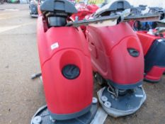 2 X COMOC SIMPLA 65BT SCRUBBER FLOOR CLEANERS, SPECIAL NOTE: NO BATTERIES. MAY BE INCOMPLETE.