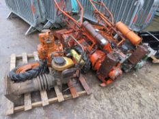 2 X HOWARD GEM ROTORVATORS, SPARE ENGINE AND ROBIN TRENCH COMPACTOR This item is being item sold
