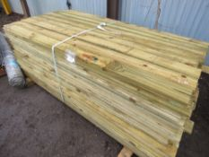 LARGE PACK OF FEATHER EDGE TIMBER CLADDING 1.8MX10CM APPROX.