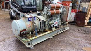 VOLVO ENGINED AUTO DIESELS 200KVA GENERATOR SET. EX AIRPORT STANDBY USE. REMOVED IN RUNNING