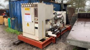 PUMA 200KVA VOLVO TURBO ENGINED DIESEL GENERATOR, PREVIOUS AIRPORT STANDBY UNIT, SHOWING 478REC HRS.