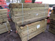 2 LARGE PACKS OF FEATHER EDGE TIMBER CLADDING AT 1.65MX10CM