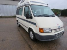 FORD TRANSIT DIESEL AUTOMATIC CAMPER VAN. REG:M139 RCW. MOT RECENTLY EXPIRED. STARTS AND DRIVES,