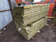 2 LARGE PACKS OF FENCING TIMBER/TRELLIS SLATS 1.83MX5CM APPROX.