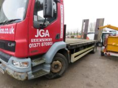 DAF 55.220 15 TONNE RATED BEAVERTAIL PLANT LORRY REG:BU02 FKX 353,465 REC KMS WITH V5