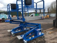 POWER TOWER SCISSOR LIFT ACCESS UNIT, YEAR 2016, DIRECT FROM LOCAL COMPANY WHO ARE NOW HIRING ALL