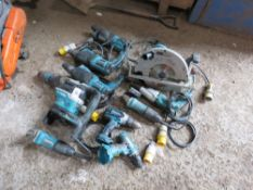 10 X ASSORTED POWER TOOLS,A S SHOWN CONDITION UNKNOWN, UNTESTED