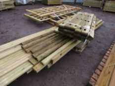 2X PALLETS OF ASSORTED POSTS, DECKING AND OTHER TIMBER