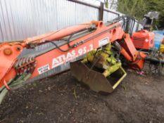 Atlas 95.2 lorry crane c/w clam shell grab, yr2007