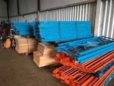 LARGE QUANTITY OF WAREHOUSE RACKING AND SHELVING CONSISTING 28 X UPRIGHTS @ 2METRES HEIGHT, 600MM