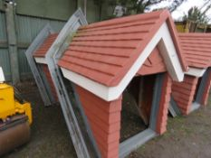 2no. Pre-assembled and insulated dormer windows