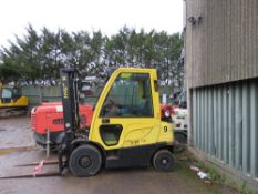 HYSTER 2 TONNE GAS FORKLIFT WITH CAB YEAR 2012