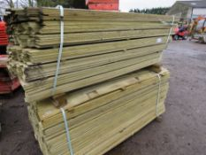 2 LARGE PACKS OF FENCE CLADDING BOARDS 1.75MX10CMX8MM THICKNESS