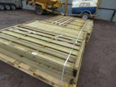 3X PALLETS OF ASSORTED WOODEN FENCING PANNELS