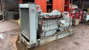 DORMAN 6 CYLINDER DIESEL ENGINED GENERATOR, FROM PAPERWORK BELIEVED TO BE 500KVA APPROX. 590HP