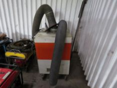 LARGE FUME EXTRACTION SYSTEM C/W SUPPORT BAR AND HOSE