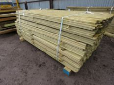 LARGE PACK OF FENCING SLATS 1.83MX4.5CM APPROX.