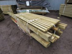 PALLET OF ASSORTED POSTS AND TIMBER