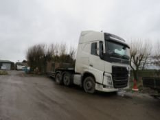 VOLVO FH13 MID LIFT TRACTOR UNIT REG: KX65 PHY 6X2 DRIVE, EURO 6 ENGINE, ISHIFT GEARBOX, YEAR