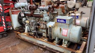 AUTO DIESELS VOLVO PENTA 187KVA RTED DIESEL GENERATOR, PREVIOUS AIRPORT STANDBY UNIT, SHOWING 800