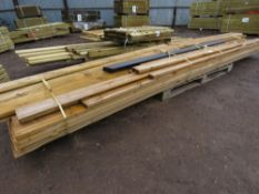 LARGE PACK OF ASSORTED DECKING AND INTERLOCKING TIMBER 8FT-15FT APPROX.