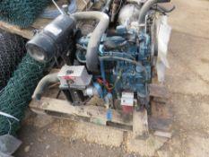 Kubota V1505-E 4-cylinder diesel engine. Untested, condition unknown.