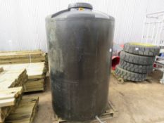 Large water storage tank c/w tap and lid