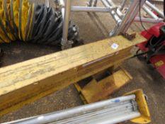 Forklift crane jib unit