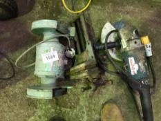 240v Bench grinder, vice and 110v angle grinder