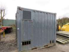 Secure steel generator/tool store, 10ft x 8ft approx.