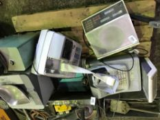 Pallet of 7no. items of scales, tills and printers