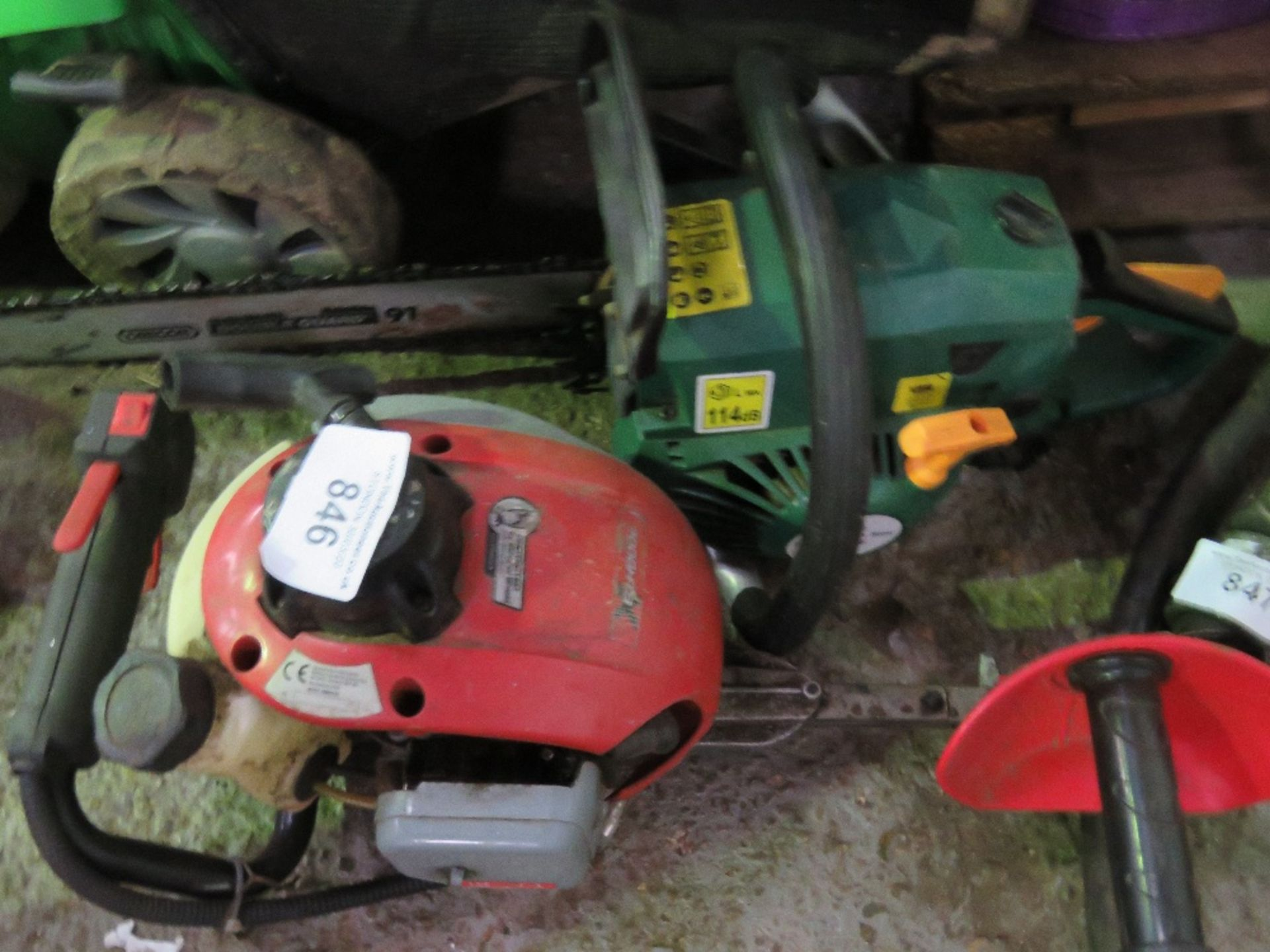 Lot 846 - Petrol hedge cutter and chainsaw